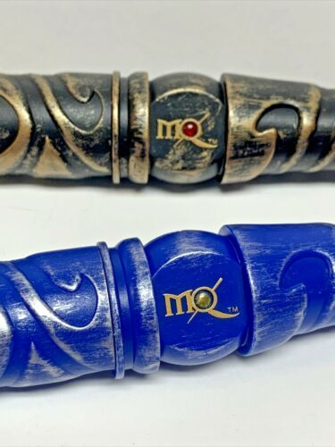 """Lot 2 Great Wolf Lodge MagiQuest Magic Quest Blue Silver Gold Flame 17"""" Wand"""