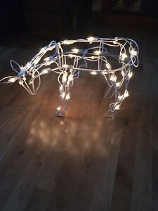 Outdoor standing deer with lights