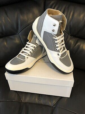 "VERSACE ""Young Versace"" Sneaker  White/Grey Leather size Jnr 7"