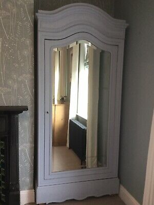 Beautiful Antique French Armoire Wardrobe Louis XV Revival Mirror Shelves