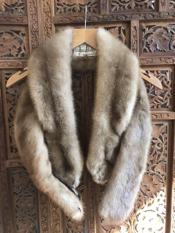 Richard Rich Milwaukee Mink Fur Twist Wrap Vintage 1950s Condition Fair