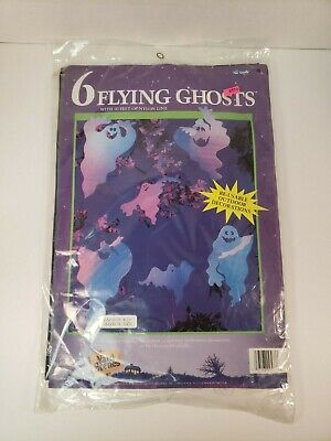 Vintage Halloween Ghost Decorations 6 Flying Foam Indoor Outdoor 18