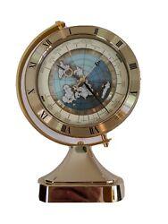 SEIKO 90th Anniversary Dateline GMT Globe World Time Desk Clock ship QQZ292G ecu