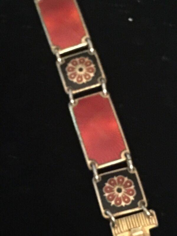 David Andersen Sterling And Enameled Bracelet