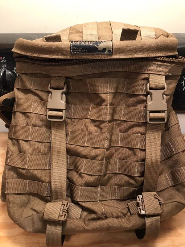 Kifaru Scout GEN 1, 1000d nylon, Coyote, w/unpadded PALS belt.