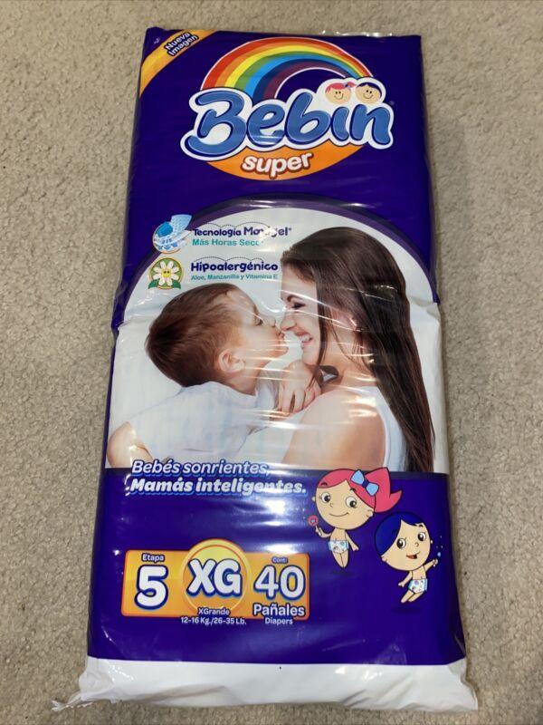 Bebin Super Diapers Size 5 - 40 Count Pack