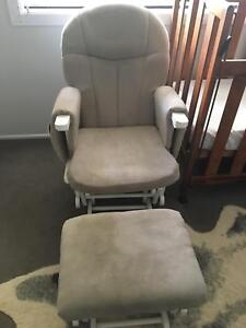 Rocking chair / nursing chair and footstool