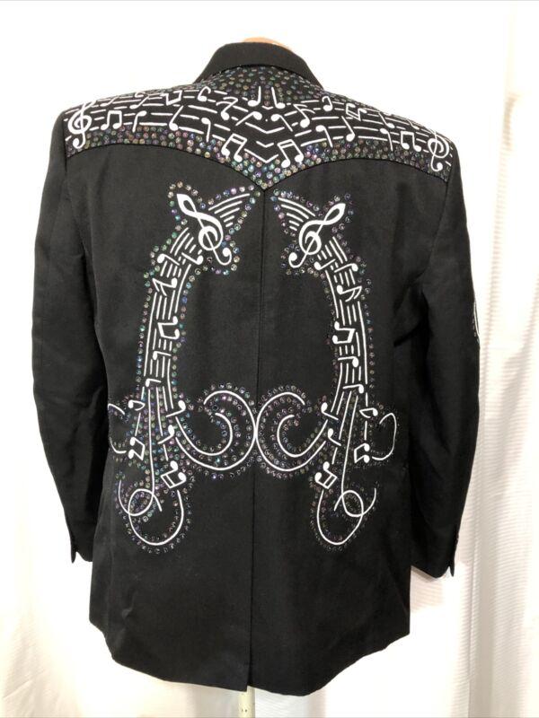 Men's BA Designs Western Swing Rockabilly Nudie Suit Insp. Jacket Ooak 42L