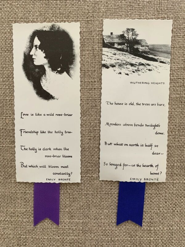 Charlotte Bronte English Novelist & Poet Lot Of 2 Bookmarks United Kingdom 🇬🇧