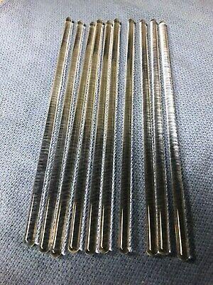 6mm X 8borosilicate Glass Stirring Rod Lot Of 10