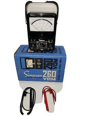 Simpson Motorola 260 Series 6 Analog Volt Ohm Meter With Leads Original Box