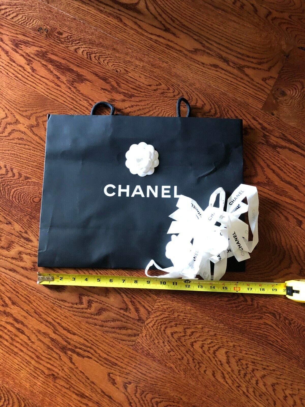 Authentic Combo of 4 CHANEL Cartier HERMES LV Paper Shopping Bags