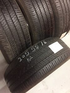 4 Bridgestone all season tires:205/55R16