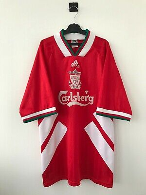 LIVERPOOL ENGLAND 1993/1995 HOME FOOTBALL SOCCER SHIRT JERSEY CAMISETA ADIDAS image
