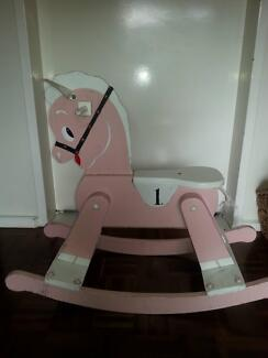 old fashioned rocking horse, childs table and 2 chairs Williamstown Hobsons Bay Area Preview