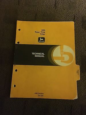 John Deere 820 Rear Tine Tiller Operators Manual