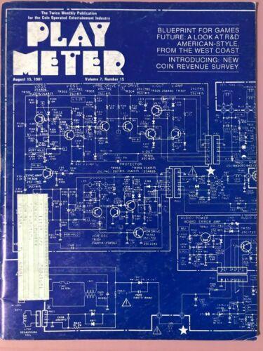 Play Meter Magazine August 15, 1981