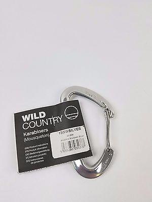 Wild Country Lite Screwgate Carabiner-Silver