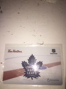 Toronto maple leafs re loadable Tim Hortons card $5