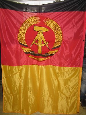DDR FAHNE FLAGGE BANNER DEDERON 350 cm x 135 cm !!!