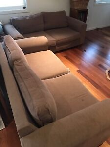 FREE Couches: 2 brown 2.5 seater couches