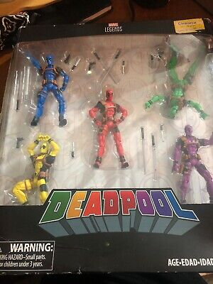 "Marvel Legends: Deadpool's Rainbow Squad 3.75"" Figures - 5 Pack - New in Box"