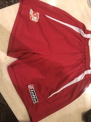 Swindon Town FC Mens Shorts Lotto Vintage Red / White