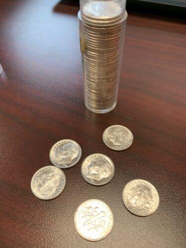 2 Rolls (100 dimes) 90% Silver 1964 or earlier Mix Dates Mints $10.00 Face