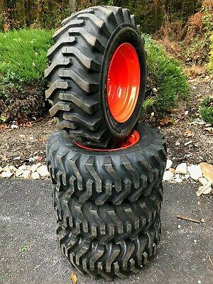 4 New Camso Sks332 12x16.5 Skid Steer Tires Wheelsrims For Kubota - 12-16.5