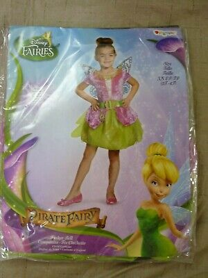 Peter Pan Costume Girl (Childs Girls Disney Pirate Fairy Peter Pan Tink Tinker Bell Tinkerbell)