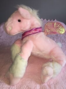 Beautiful pink OR purple Plush Pegasus Horse with wings