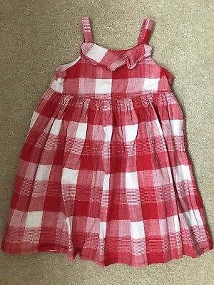 Gymboree Girls Red And White Checked Dress Age 5 Years