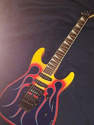 Jackson Ghost Flame Guitar Made In Japan