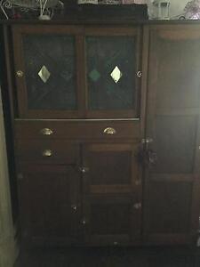 Antique Leadlight Kitchen Dresser Ballarat Central Ballarat City Preview