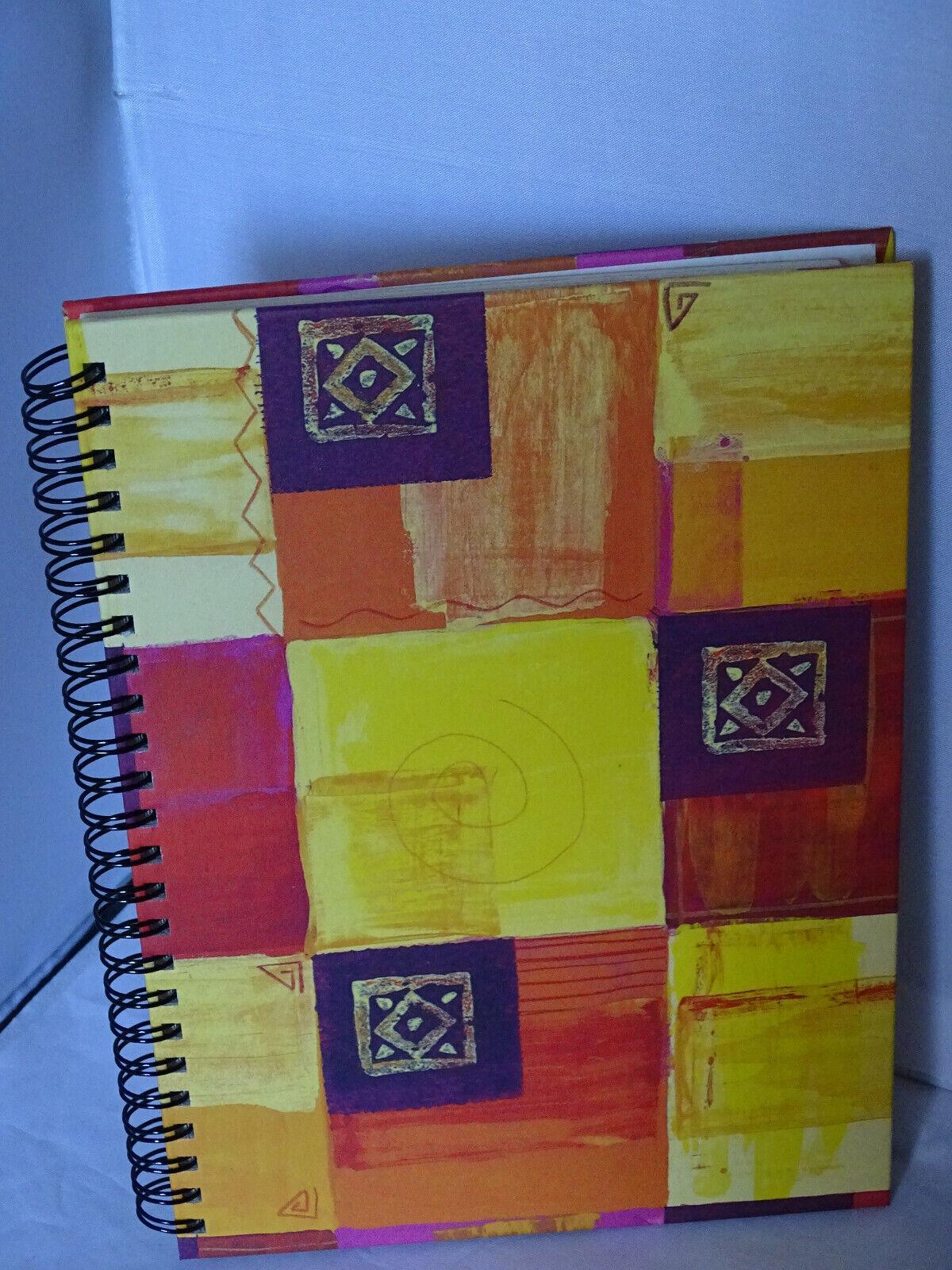 A5 Notizbuch , Adressbuch,Telefonbuch 15 x 21 cm mit Register - Bunt Rot/Gelb
