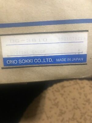 Ono Sokki Digital Gauge Dg-3610 New In Box