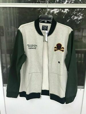 NWT Abercrombie & Fitch By Mens Full-Zip Baseball Jacket SIZE M