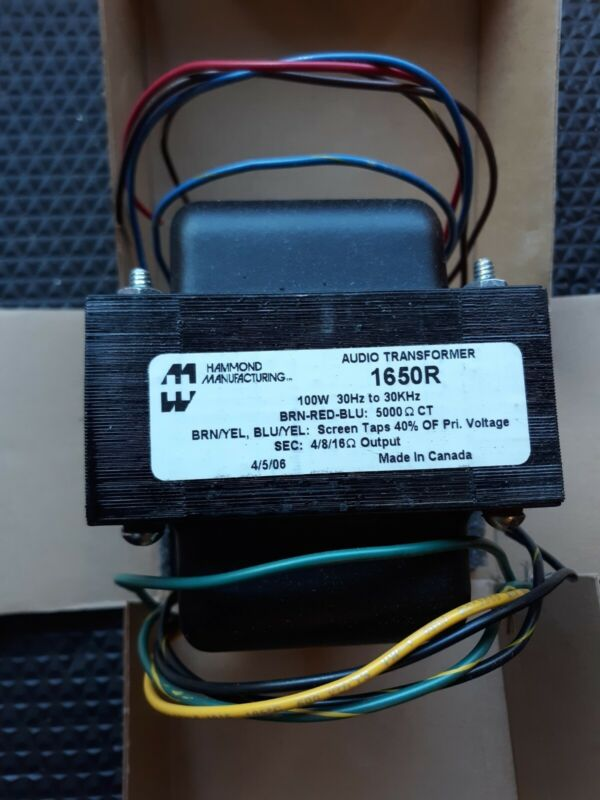 Hammond 1650R Output Transformer 100W with selector switch