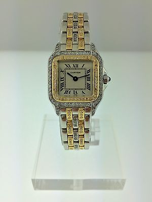 "Cartier Ladies Steel&Gold Panthere ""DIAMONDS EVERYWHERE""ORIGINAL PAPERS SERVICED"
