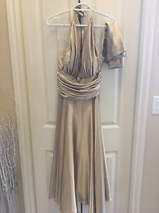 ***REDUCED - Jora Collection Gold Gala Dress For Sale