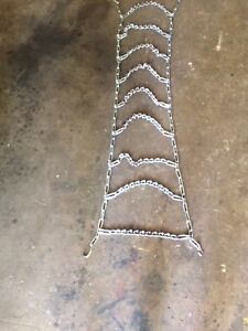 Lawn tractor or garden tractor tire chains