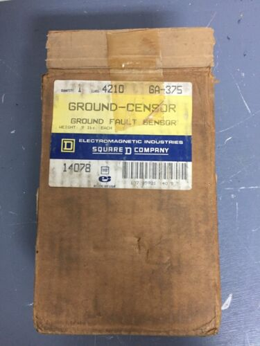 SQUARE D 4210 GA-375 GROUND-CENSOR GROUND FAULT SENSOR