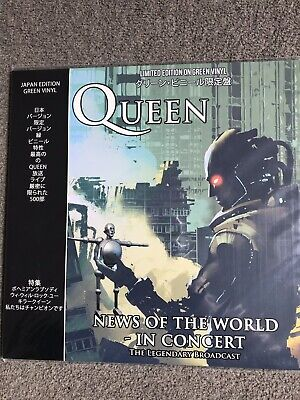 Queen News Of The World In Concert. Rare. Sealed Green Vinyl. Japan Press.