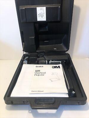Vintage 3m 589 Ag Portable Briefcase Overhead Projector