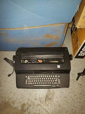 Vintage Ibm Selectric Ii Correcting Electric Black Typewriter Rare Tested Works