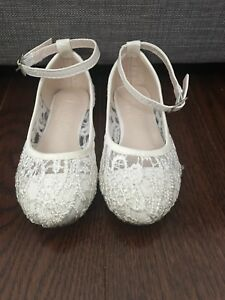 White dress shoes toddler size 8