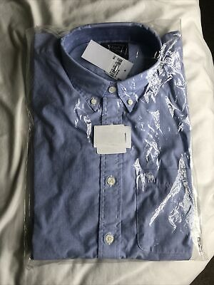 Abercrombie and Fitch Mens Shirt, Blue, Size Large, Brand New