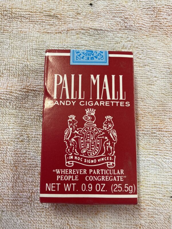 Vintage Pall Mall CANDY CIGARETTES Box And Candy Cigarettes