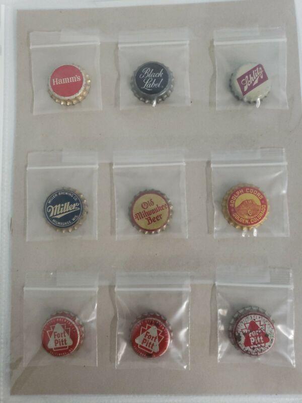 9 Vintage Beer Bottle Caps