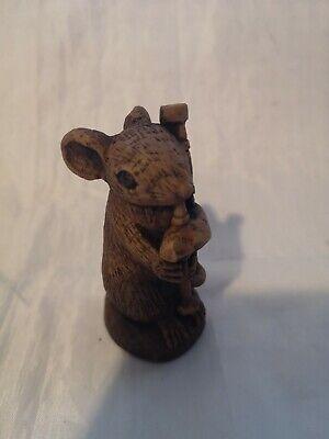Church Mouse Musician Bagpipes Unique Scottish ornament gift Hand Made Scotland